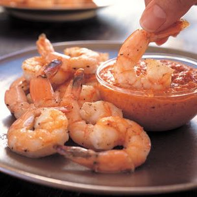 Roasted Shrimp with Romesco