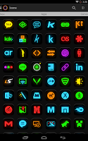 Screenshot of Neon Glow - Icon Pack