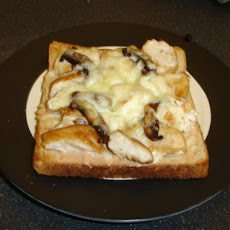 Chicken and Mushroom Open Face Melt With BBQ Mayo