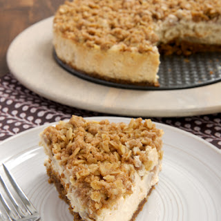 Pear Crisp Cheesecake