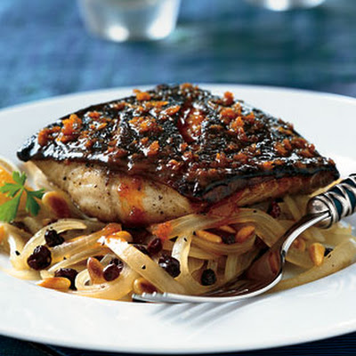 Black Cod with Roasted Sweet-and-Sour Onions