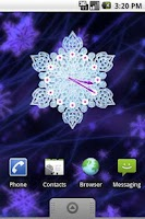 Screenshot of Crystal Snow Clock