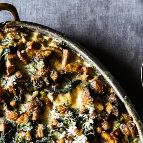 Spinach, Mushrooms, and Cream Bake