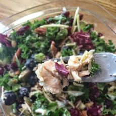 Still Holding Onto Summer Kale Salad - Easy