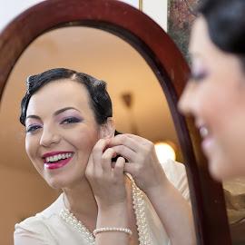 Happy Bride by Toni Oprea - Wedding Getting Ready ( girl, wedding, woman, happy, bride )
