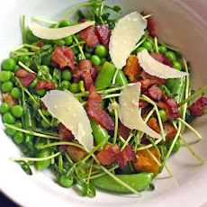 Tony Mantuano's Pea, Bacon and Pecorino