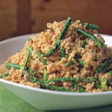 Fregula with Asparagus and Gorgonzola