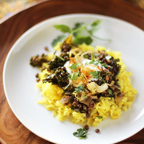 Middle Eastern Spiced Lentils & Kale With Caramelized Onions