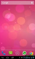Screenshot of Bokeh 3D Live Wallpaper PRO