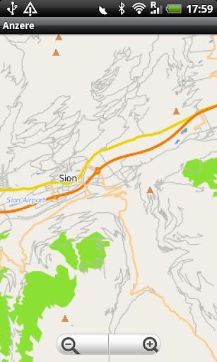 Anzère Street Map