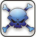 Skull Bones doo-dad blue icon