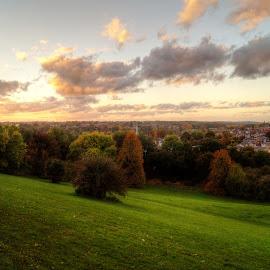 Autumn Colours by Mark Thompson - City,  Street & Park  Skylines ( clouds, sky, grass, autumn, hemel hempstead, trees, colours,  )