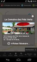 Screenshot of Domaine des Prés Verts