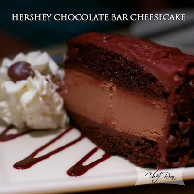 HERSHEY CHOCOLATE BAR CHEESECAKE