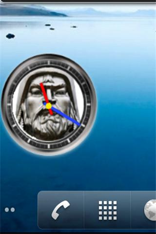Chinggis Khan Clock Widget