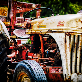 Rusty Tractor by Russell Havens - Transportation Other ( grunge, old, rusty, ford, tractor )