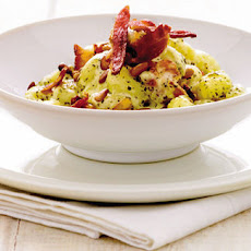 Pesto, Bacon And Pine Nut Gnocchi