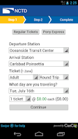 Screenshot of COASTER Mobile Tickets