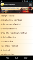 Screenshot of Festival Finder