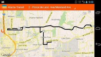 Screenshot of Atlanta Transit