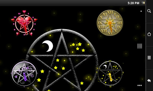 Pentacle Clock Widget