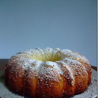 Lemon Chiffon Cake with Yoghurt Custard