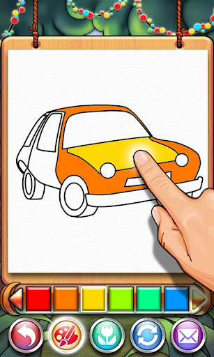 Coloring Book Car-draw game