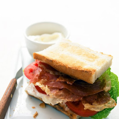 Prosciutto, Lettuce, and Tomato Sandwich