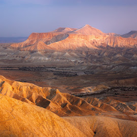 The Negev Desert by David Solodar - Landscapes Deserts ( desert, nature, negev, lite, israel )