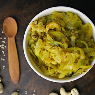 Curried Ginger Cabbage with Cashews & Quinoa