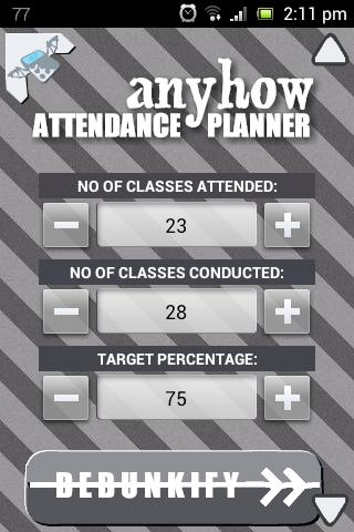 Anyhow Attendance Planner