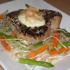 Teriyaki Tuna With Wasabi Mayonnaise and Pickled Ginger