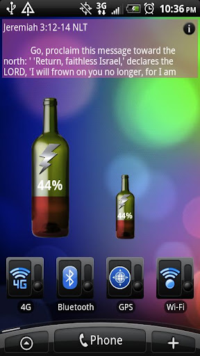 Battery Meter Wine Bottle
