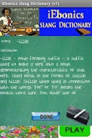 Screenshot of iEbonics & Slang Dictionary