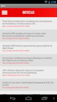 Screenshot of UPC