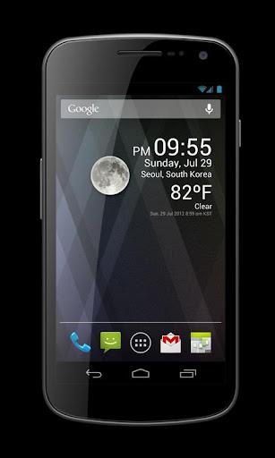 Weather Clock Widget - screenshot
