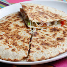 Shrimp Quesadillas with Tomato Avocado Salsa