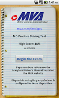 Screenshot of MD Practice Driving Test