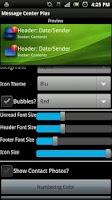 Screenshot of Message Center Plus