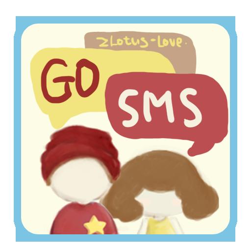 GO SMSテーマZLOTUSLOVE 漫畫 App LOGO-APP試玩