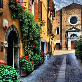 Salò  by Pieter Arnolli - City,  Street & Park  Street Scenes ( lago di garda, lombardije, europe, street, veneto, travel, italy )