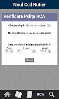 Screenshot of Noul Cod Rutier 2013