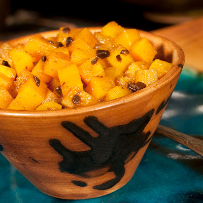 "Butternut Squash ""Duet"" with Black Garlic"
