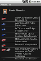 Screenshot of Police Radio