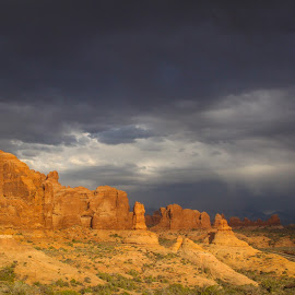 Cave of Coves by Becca McKinnon - Landscapes Caves & Formations ( national park, cave of coves, arches, red rock, storm )