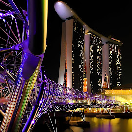 Marina Sands by Ng Yannfae - City,  Street & Park  Night ( night, light, photography, singapore, nightscape )
