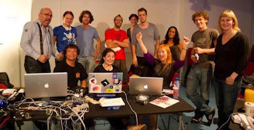 <p> STEIM Isadora workshop, Amsterdam, Aug 2011</p>