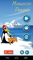 Screenshot of Matching game Penguin edition