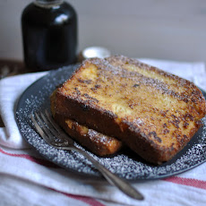 Decadent Custard Orange-Vanilla Brioche French Toast