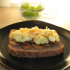 Mushrooms & Scrambled Eggs on Toast